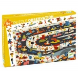 Djeco Observation Puzzle - Car Rally 54 Pieces DJ07564